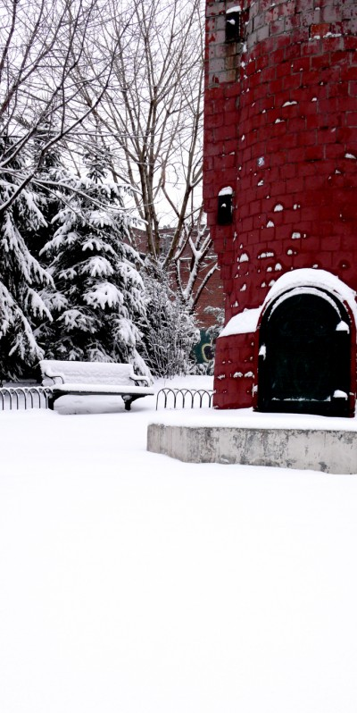 It is always very peaceful when the snow is falling