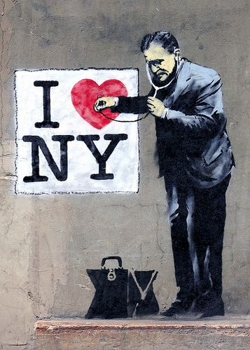 Jake Spots a Banksy in NYC
