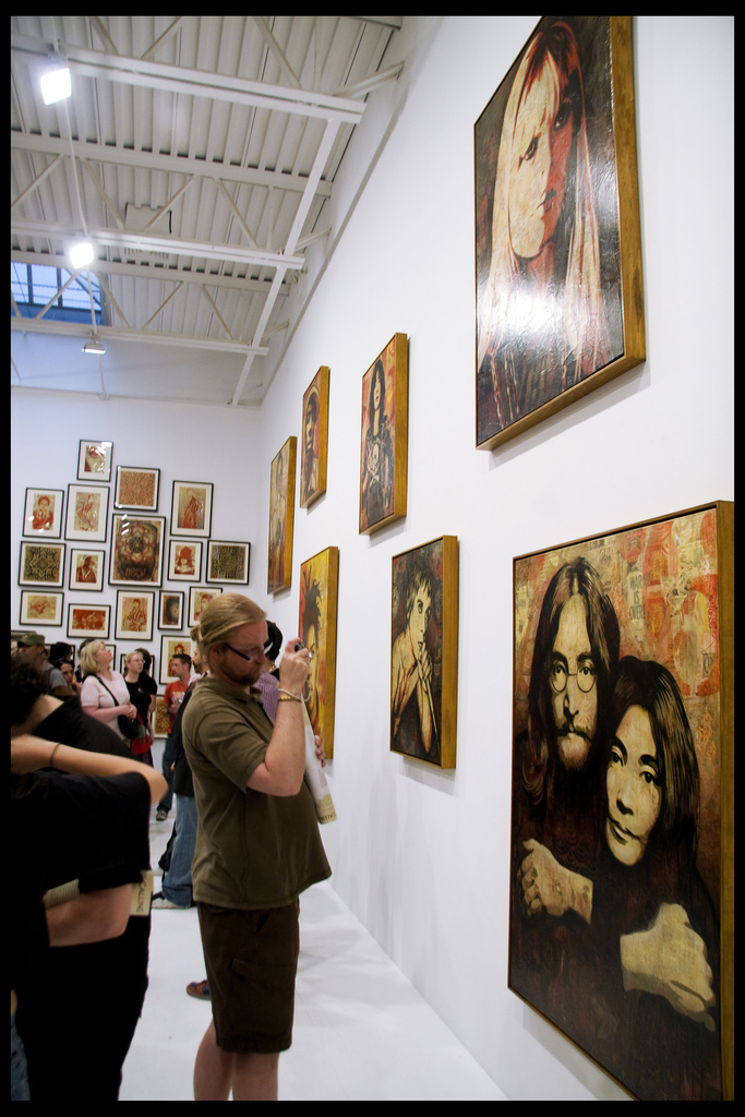 John and Yoko in the foreground (photo © Reana Kovalcik)