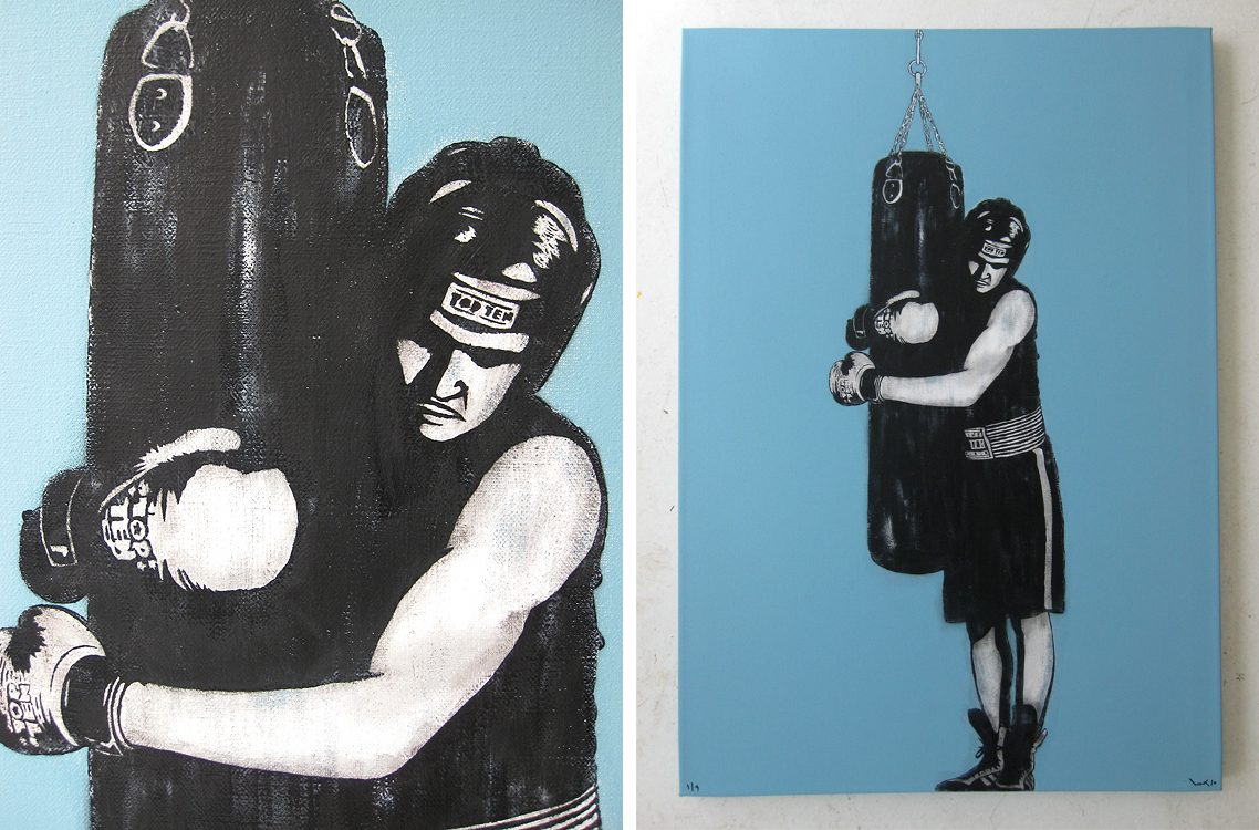"""The Boxer"" - a pretty stunning canvas by DOLK tomorrow at Brooklynite."