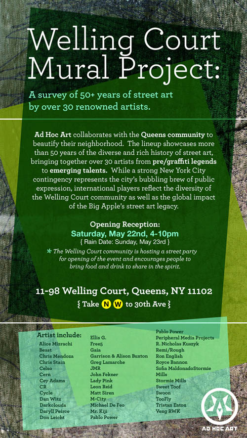 Ad Hoc Art Presents: Welling Court Mural Project