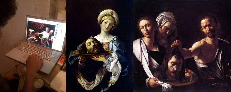 Gaia surfs for Italianate beheadings: Carvaggio and Guido Reni