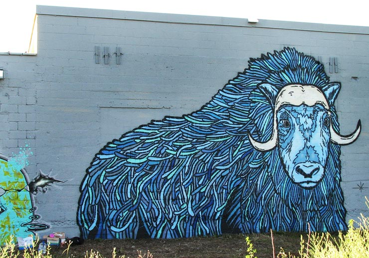 A new blue ram from Broken Crow in Minneapolis (image courtesy Stencil History X)