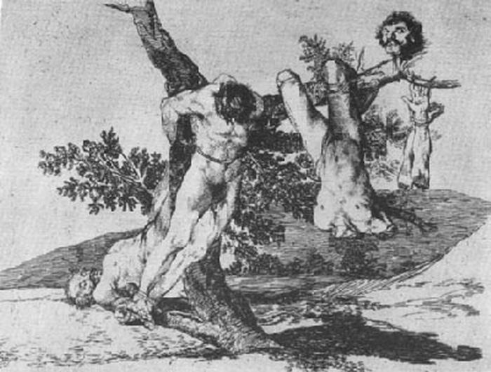 "A rendering by Goya for his ""Disasters of War"""