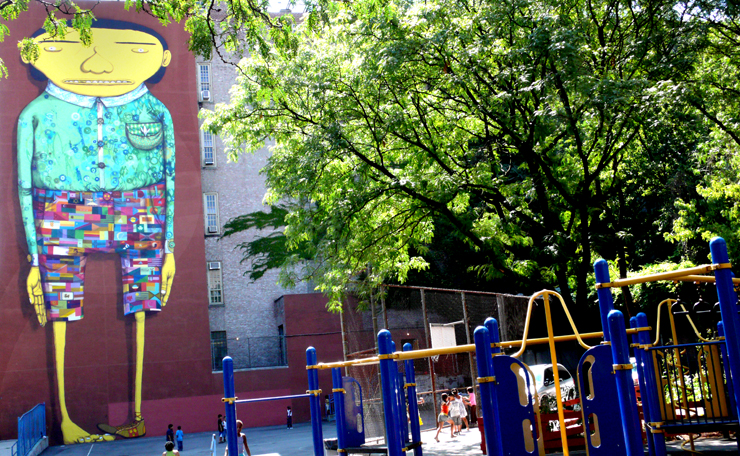 Os Gemeos and Futura ( Jaime rojo) 