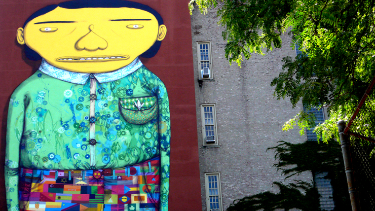Os Gemeos and Futura. Detail ( Jaime Rojo) 