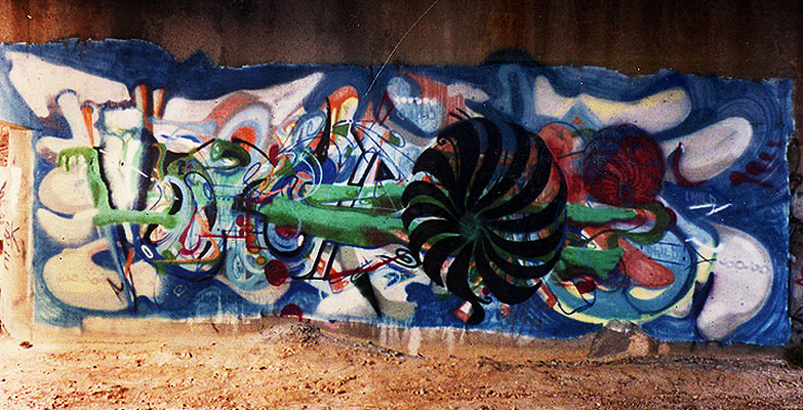 A 20 year old picture of a piece by Voke, courtesy Chris Stain