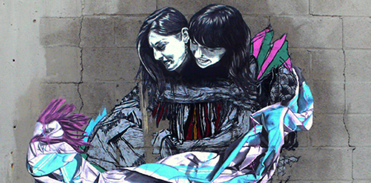 A new piece by Swoon!  Wait, maybe not. (photo © Jaime Rojo)
