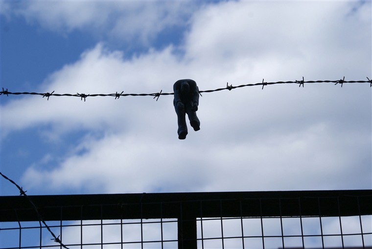 "Isaac Cordal ""Border"" Hackney, London. 2010"