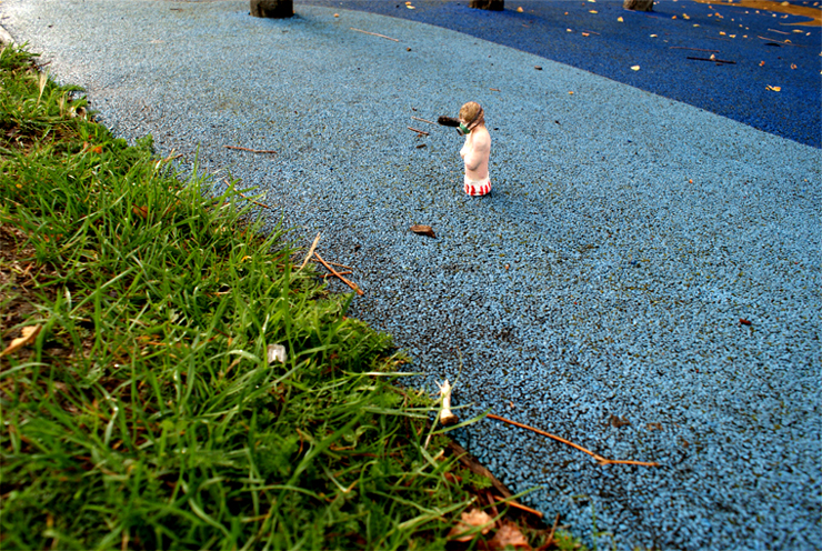 "Isaac Cordal ""Public Swiming Pool"" London, UK. 2010"