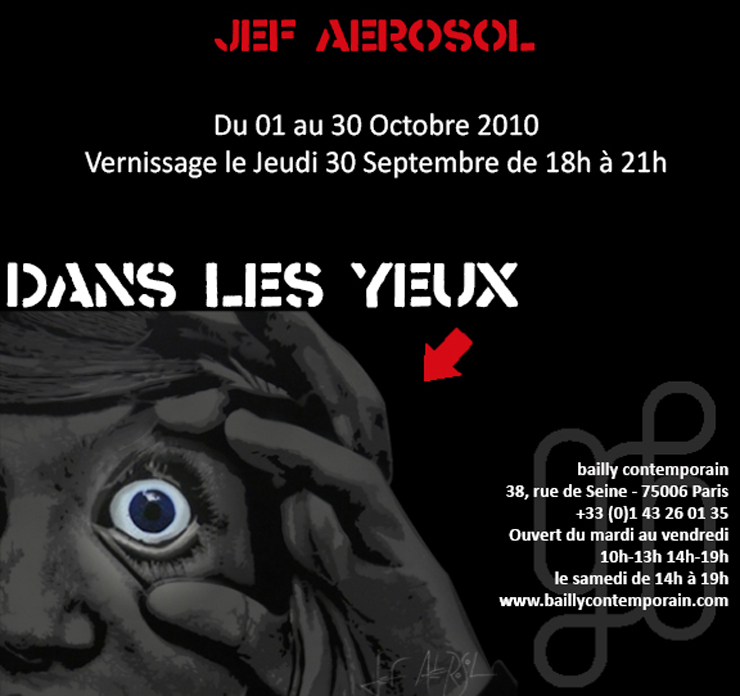 Galerie Bailly Contemporain Presents: Jef Aerosol