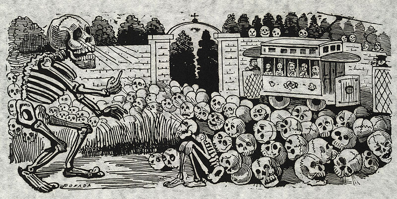"Jose Guadalupe Posada 1852-1913 ""Calavera Electrica"" Image Courtesy Library Of Congres"