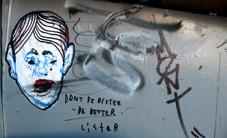 "Lister Sez ""Don't Be Bitter, Be Better"" (Photo © Jaime Rojo)"