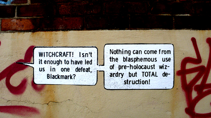 A commnetary on all the recent talk of wichtcraft on TV? (Photo © Jaime Rojo)
