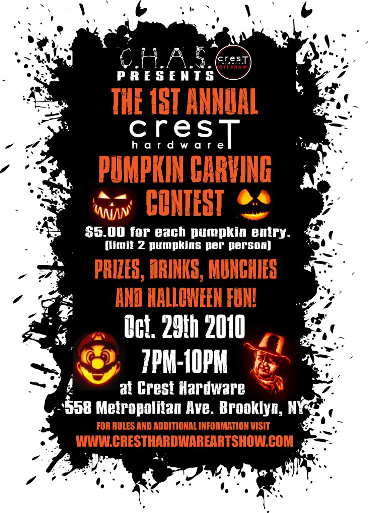 Crest Hardware Art Show Presents: First Annual Pumpkin Carving Contest