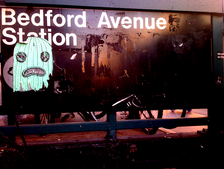 The ghost of Bedford Ave (Photo © Jaime Rojo)