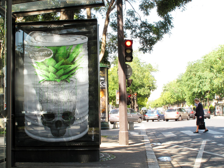 Parisian Street Artist Ludo Takes On Karl Lagerfeld