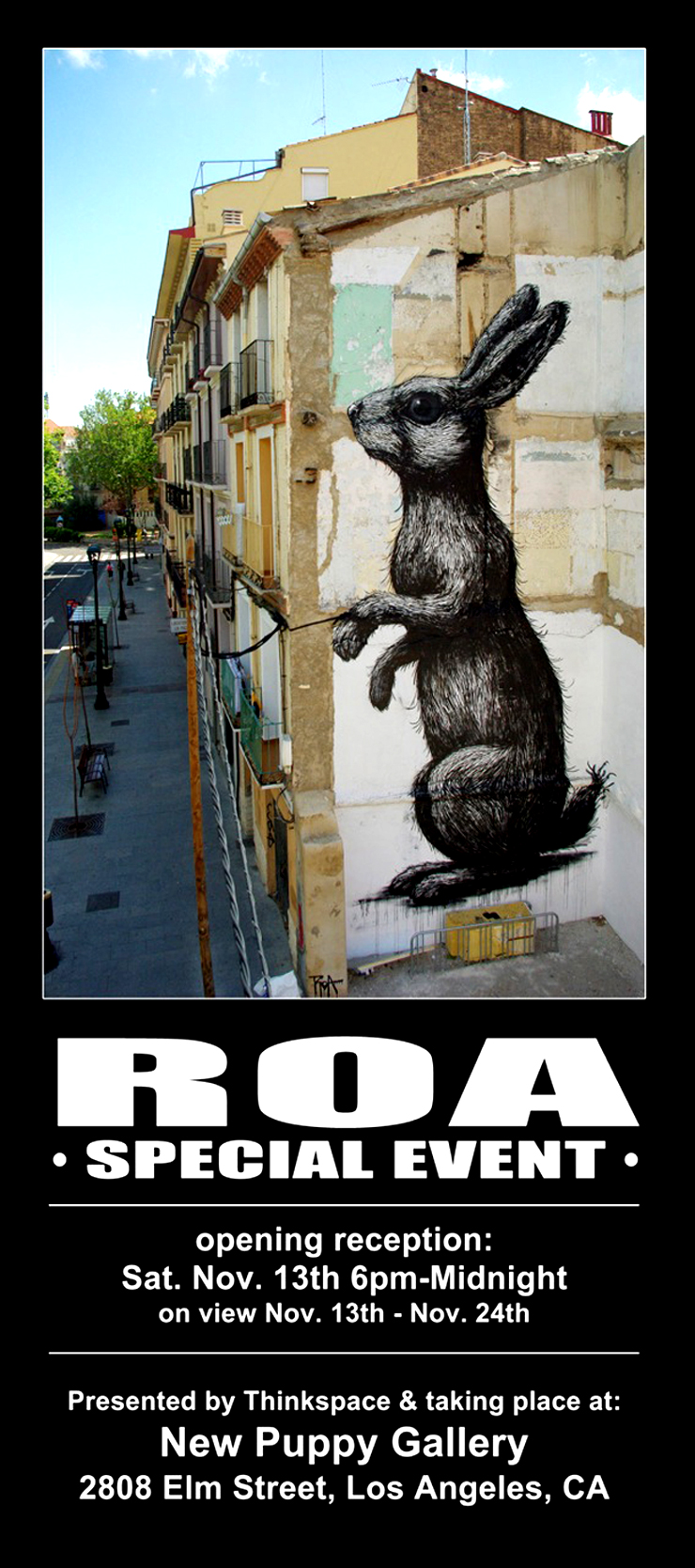 Think Space Gallery Presents: Roa