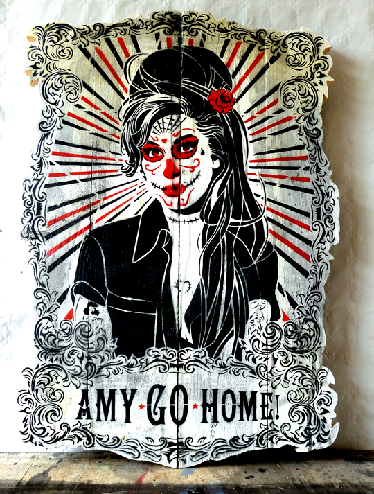 "Mittenimwald ""Amy Go Home"". Día de Muertos preview show (Photo © Mittenimwald)"