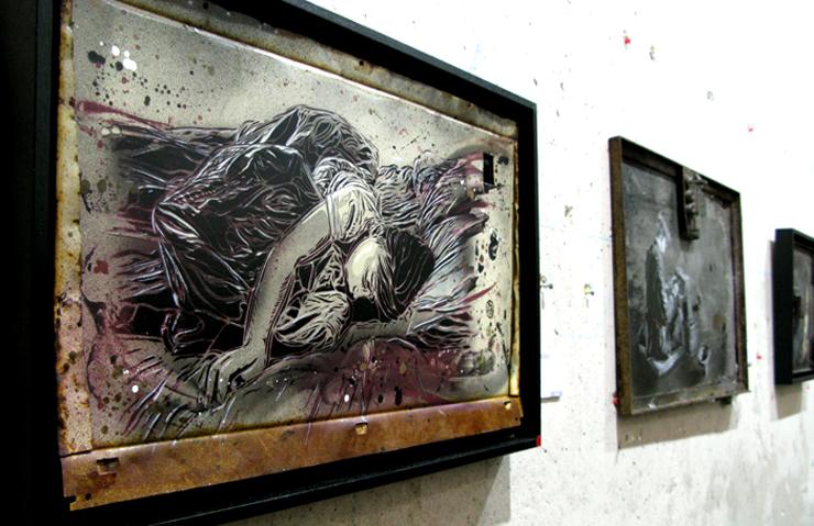 brooklyn-street-art-C215 Community-Service-vue accrochage-2-courtesy Galerie-Itinerrance-web