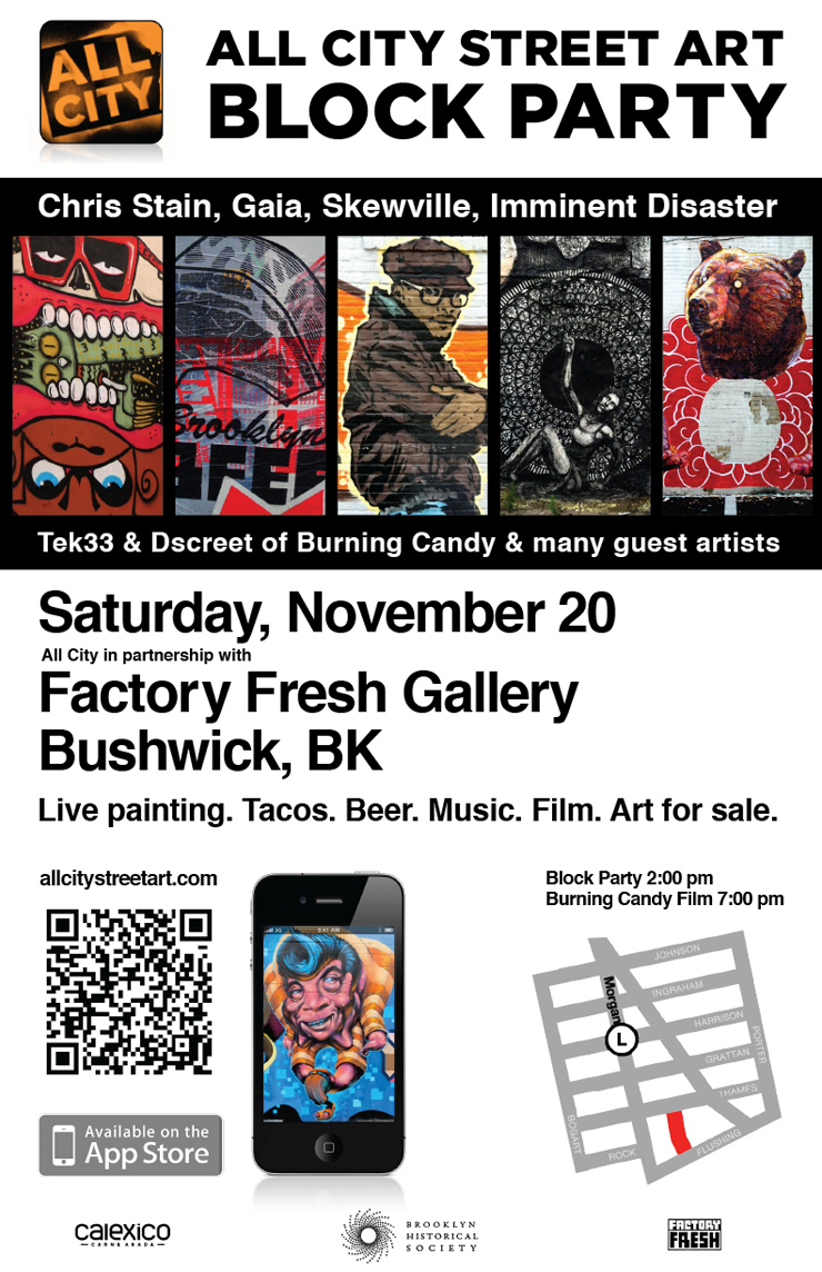 Factory Fresh In Collaboration With All City Presents: Bushwick Block Party (Brooklyn, NY)