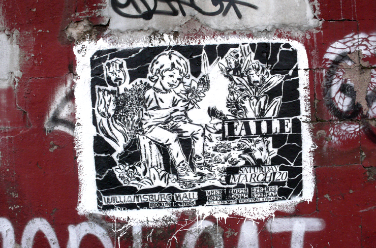 And the same Faile stencil on the street (Photo © Jaime Rojo)