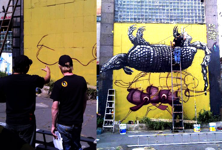 A Saturday Mural in Mexico City with Tiburon 704, Navajas, and ...