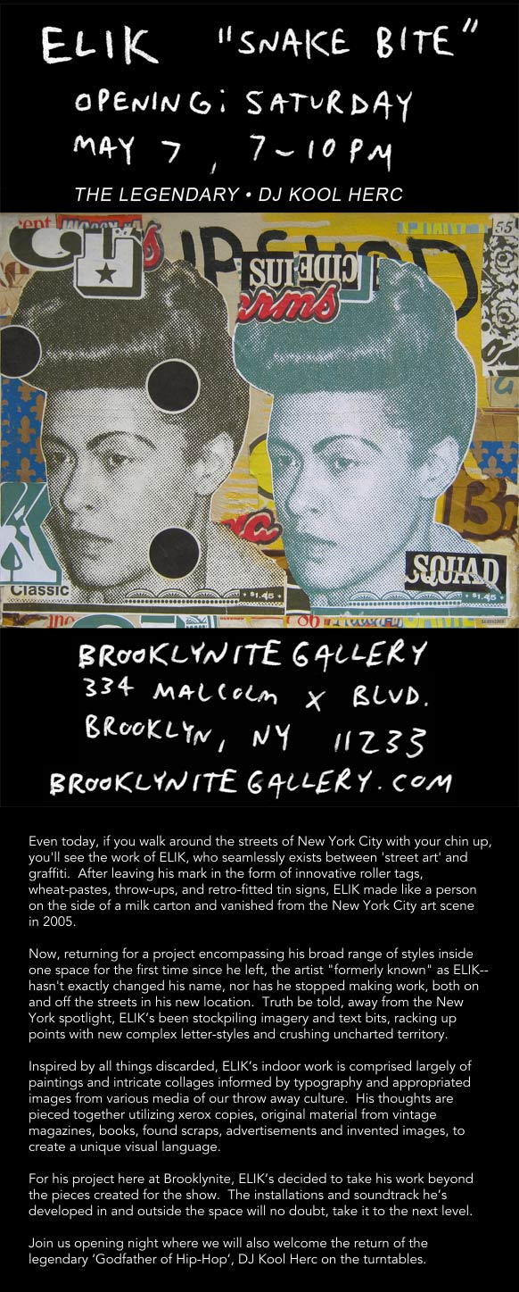 Brooklynite Gallery Presents: Elik