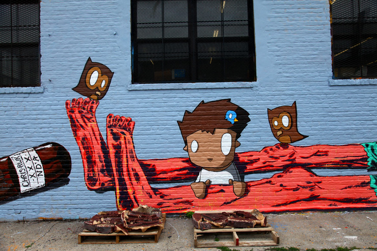 Street Art Summer Hospitality in NYC - OverUnder, Irgh, N'DA, Veng & Chris (RWK)