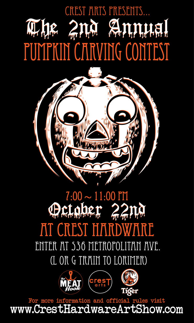 Crest Arts Presents: The 2nd Annual Pumpkin Carving Contest. (Brooklyn, NY)