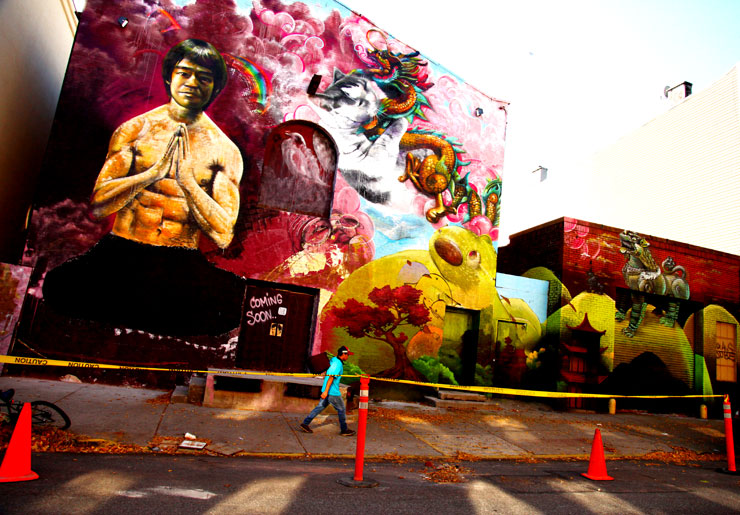 Cern Paints Bruce Lee in Brooklyn
