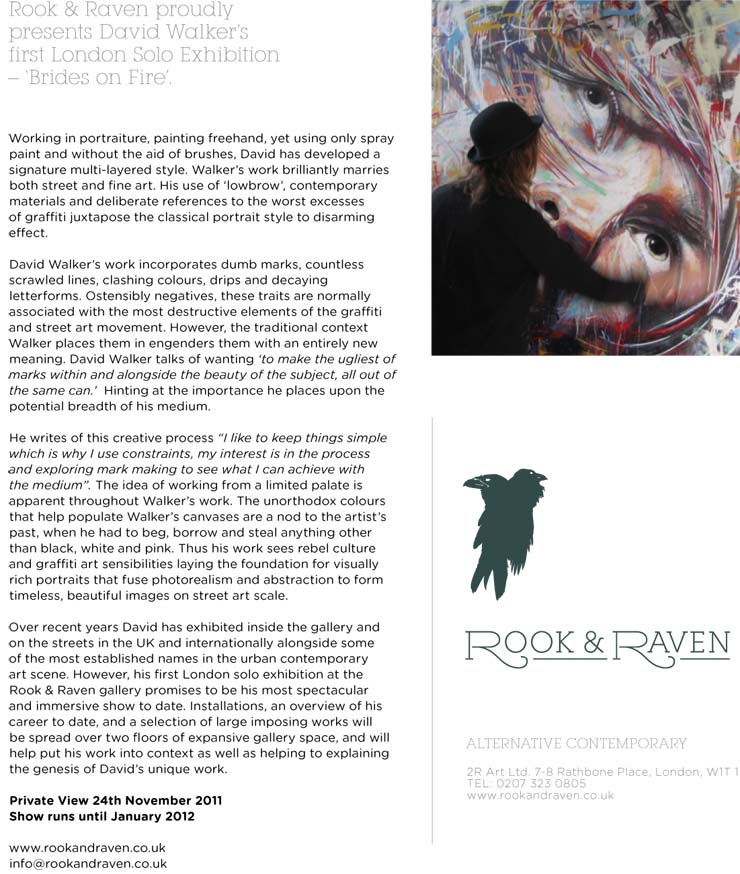 Rook & Raven Gallery Presents: David Walker