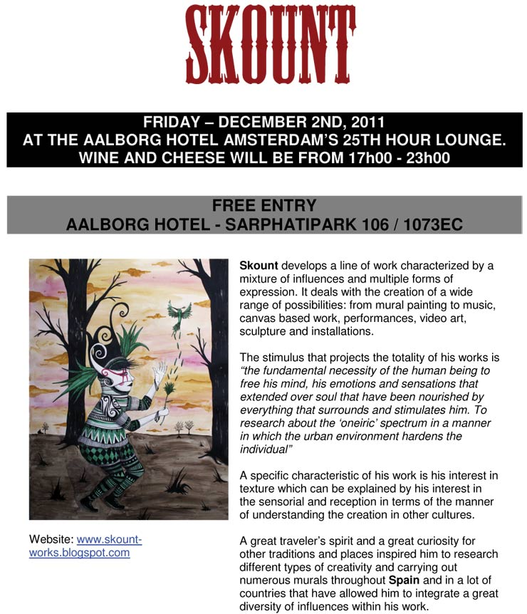 Amsterdam Street Art Presents: Skount. A Solo Show (Amsterdam, The Netherlands)