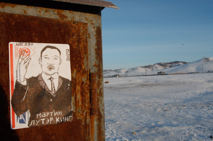 Martin Luther King Jr. - Street Art from NY and Mongolia