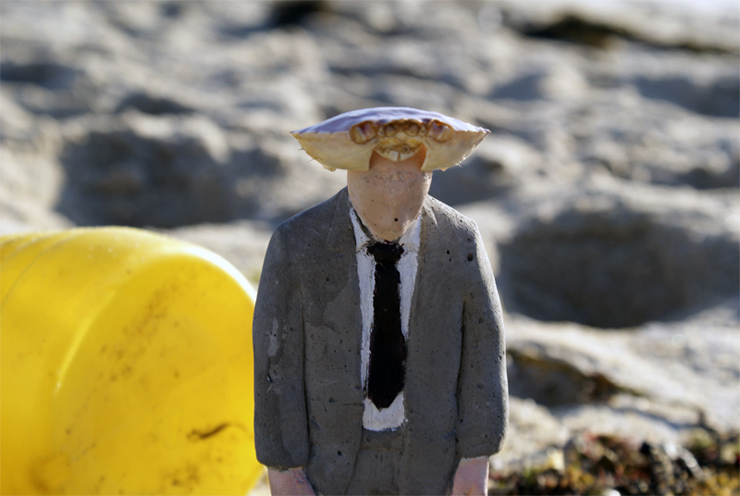 Isaac Cordal : New Cement Guys in Galicia, Spain