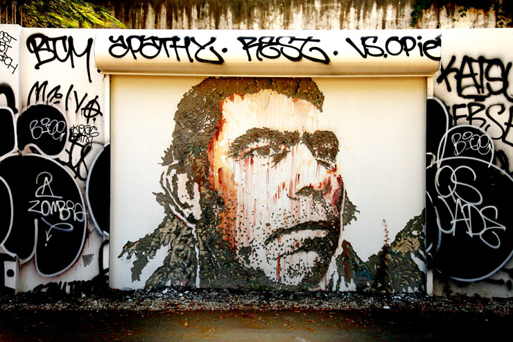 Galerie Magda Danysz Presents: Vhils Solo Show (Paris, France)