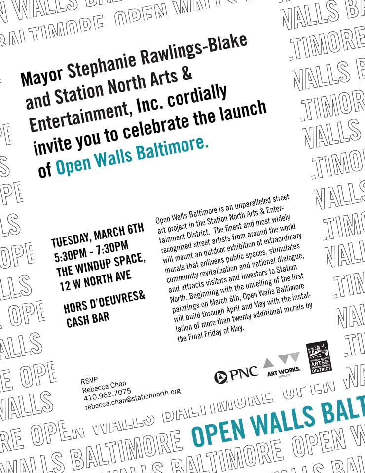 Open Walls Baltimore. Project Launch (Baltimore, MD)