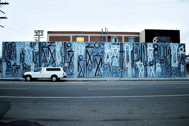 Retna Does New Wall In Downtown Los Angeles for LA Freewalls