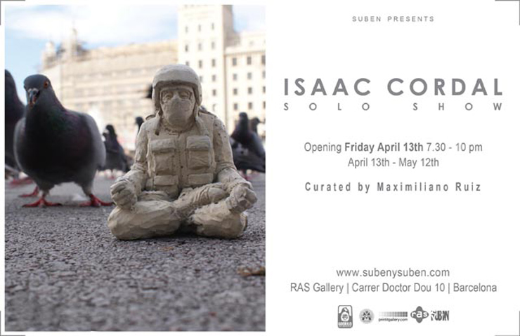 Suben Presents: Isaac Cordal Solo Show (Barcelona, Spain)