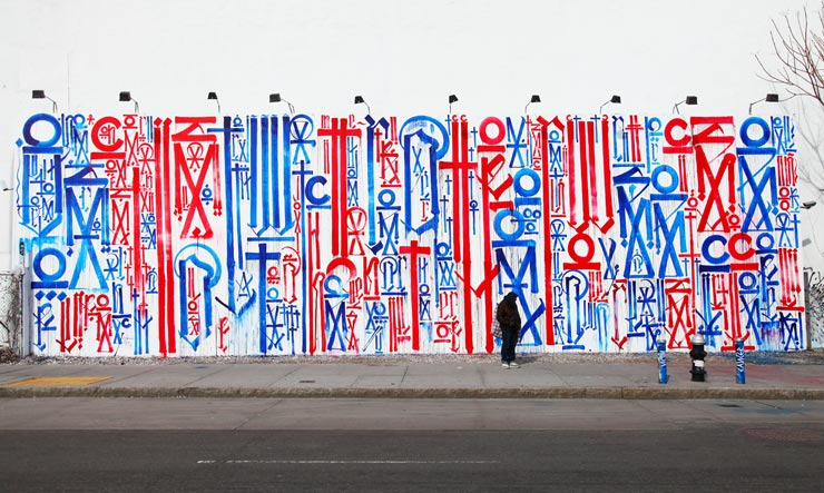 RETNA At The Houston Wall in NYC