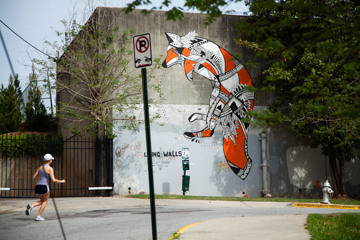 La Pandilla and Trek Matthews in Cabbagetown for Living Walls Atlanta