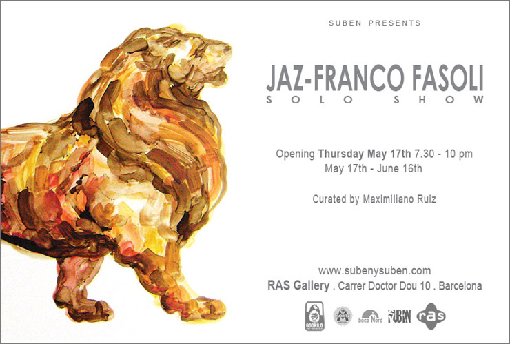 Suben Presents: Jaz - Franco Fasoli Solo Show at Ras Gallery (Barcelona, Spain)