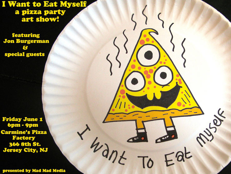 "Mad Mad Media presents: Jon Burgerman ""I Want to Eat Myself"" (Jersey City, NJ)"