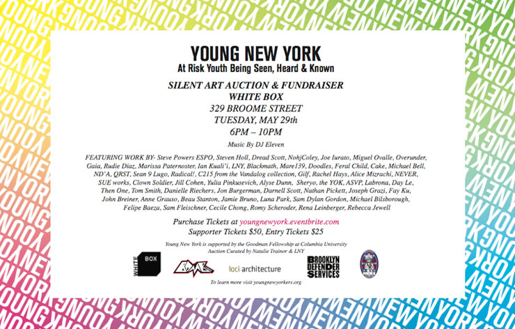 Young New York: Silent Art Auction and Fundraiser at White Box Gallery (Manhattan, NYC)