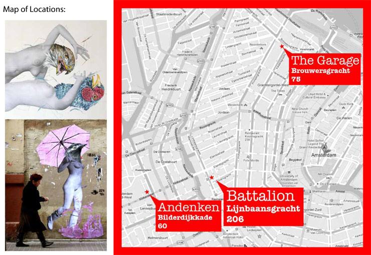 Spanish Street Artist VINZ Invades Amsterdam with: