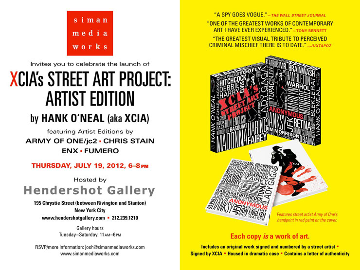 Simian Media Works Presents: XCIA Street Art Project: Artists Edition. Book Launch. (Manhattan, NY)