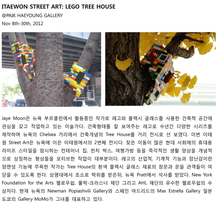Paik Hae Young Gallery Presents: Jaye Moon