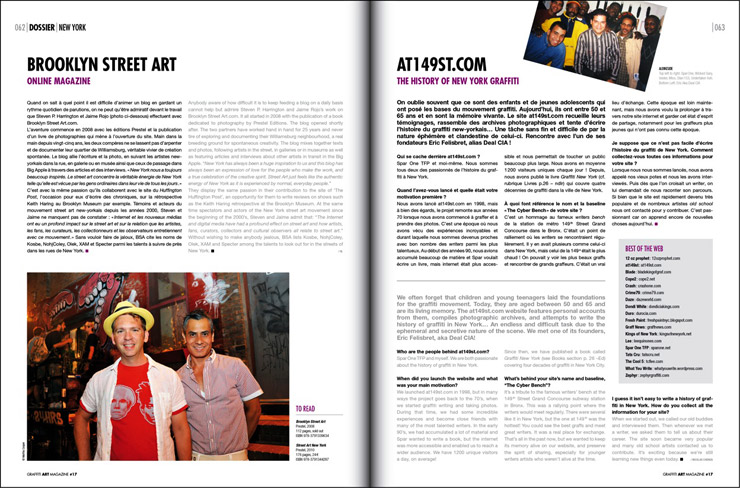 BSA in New York Issue of Graffiti ART Magazine