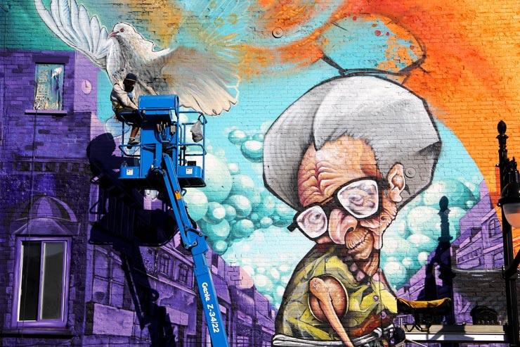 Mural festival in montreal day 4 brooklyn street art for Art mural montreal