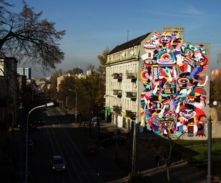 3TTMAN Completes the 30th Mural for Urban Forms In Lodz